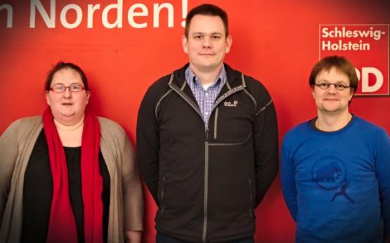 Neuer Vorstand: Silke Brandt, Sven Thomsen, Dr. Moritz Karg (v.l.n.r)