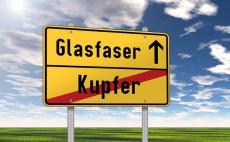 """Ortsschild """"Glasfaser / Kupfer"""""""
