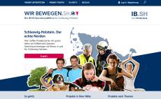 Screenshot von www.wir-bewegen.sh