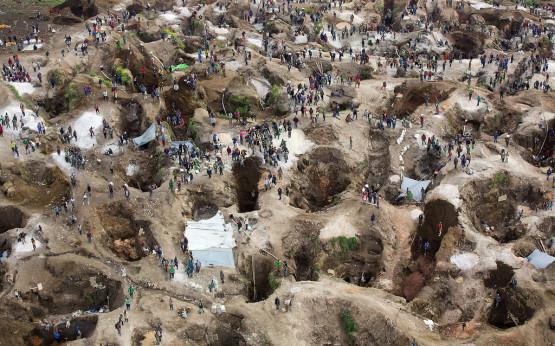 Tantal-Mine im Kongo