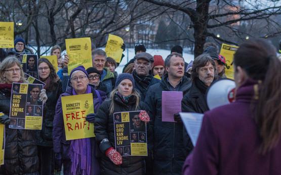 Raif Badawi Protest in Oslo