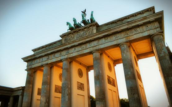 Das Brandenburger Tor im Morgenlicht