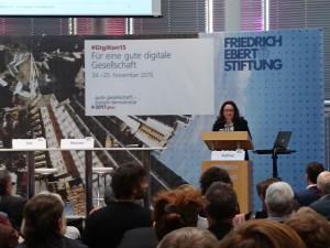 Bildungsministerin, Andrea Nahles, auf dem DigiKon2015